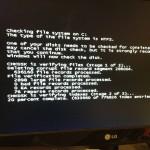 CheckDisk running