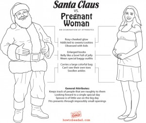 Santa and the Pregnant Woman